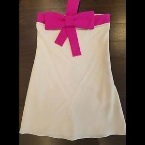 "Jay Godfrey ""Jennings"" Pink Bow silk mini dress"